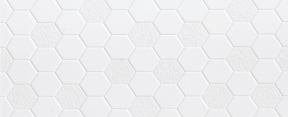Cerámica Hexagonal Blanca 30X60