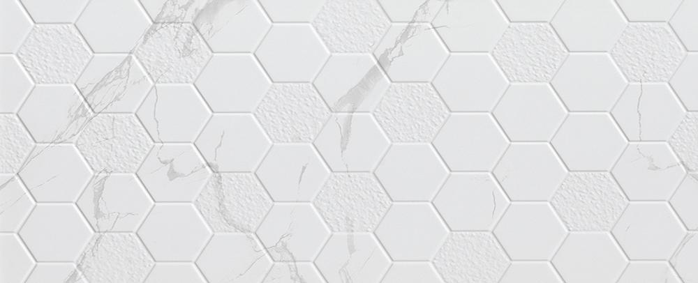 Cerámica Hexagonal Carrara 30X60